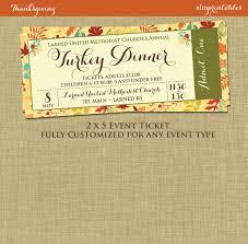 Thanksgiving Invitations Templates Free Fall Turkey Dinner Event Ticket Harvest Thanksgiving