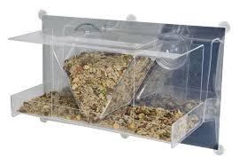 Jewel Box Window Hummingbird Feeder Essentials Clear View Deluxe Hopper Mirrored Window Bird Feeder