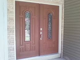angelic home exterior design ideas with fiberglass double entry