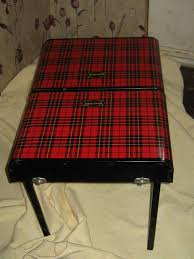Scotch Plaid 1950s Fold Up Tin Scotch Plaid Picnic Table By Etsy