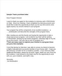 sample thank you letter after interview 8 examples in pdfthank