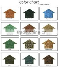 low price metal roof paint color stone chip granules stone coated
