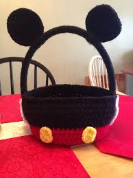 mickey mouse easter baskets mickey mouse easter basket hey i found this really awesome etsy