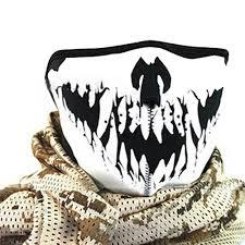 wholesale multifunction cosplay bike skeleton mask costume