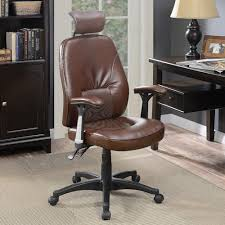 Office Furniture Birmingham Al by Coaster Office Chairs Office Chair With Brown Faux Leather