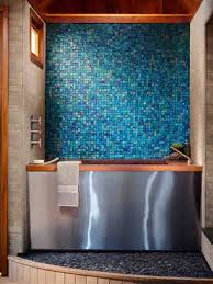 Chesthacom Design Blue Backsplash - Blue glass tile backsplash