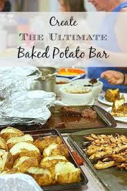 Mashtini Bar Toppings Easy Party Idea Baked Potato Bar With Toppings Along With Other