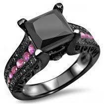 black and pink engagement rings buy pink sapphire engagement rings online shop now and save