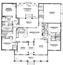 u shaped house floor plans with courtyard