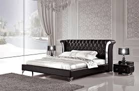 crystal tufter leather bed
