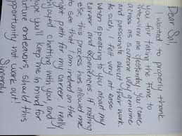 the old thank you note executive search consulting