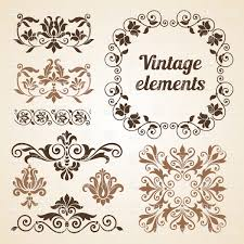 vintage design set of vintage design elements vector clipart image 28553 rfclipart
