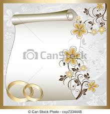 modele carte mariage vecteur de modèle floral carte mariage modèle endroit