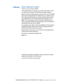 bmw 5 series 2015 f10 owner u0027s manual