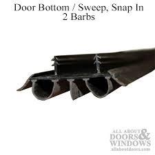 Door Bottom Sweeps For Exterior Doors Bottom Sweep Snap In 2 Barbs 13 16 Inch Brown