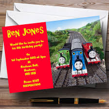 thomas and friends birthday party invitations thomas the tank u0026 friends personalised children u0027s party