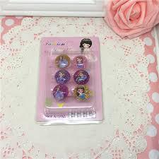 shop 6pcs korea cute resin cartoon anna elsa sofia princess