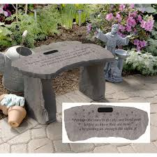 personalized memorial stones bench memorial bench custom curved top with interlocking bases