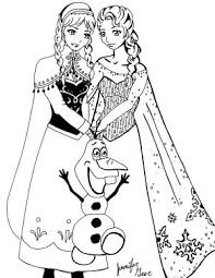 free coloring pages elsa anna coloring