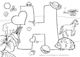 coloring pages with letter h alphabet coloring pages for kindergarten letter a coloring pages