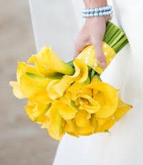 yellow calla yellow mini calla bridesmaid bouquet bridesmaid bouquets