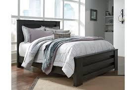 Black Panel Bed Brinxton Queen Panel Bed Ashley Furniture Homestore
