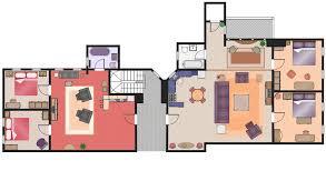 tv show apartment floor plans floor plan of friends apartment dayri me