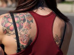 female shoulder flower tattoo female shoulder flower tatto u2026 flickr