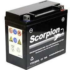 ytx20hl bs battery scorpion 12 volt motorcycle batteries