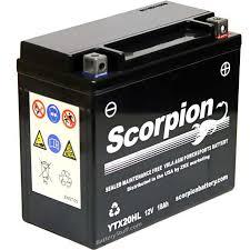 ytx20hl bs battery scorpion 12 volt motorcycle batteries