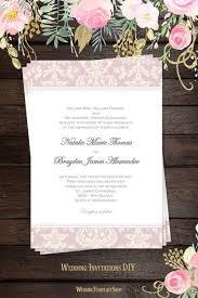 Damask Wedding Invitations Wedding Invitations Templates Printable For All Budgets Wedding