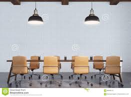 Office Table Front View Meeting Room With Wooden Table Front Stock Illustration Image