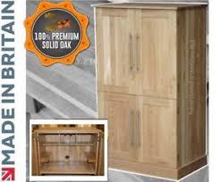 bureau ebay solid oak desk 4 door bespoke hideaway workstation computer