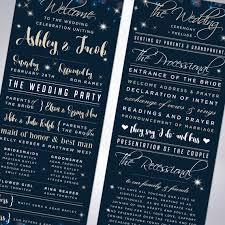 wedding program stationary sparkle wedding programs new year s wedding custom program