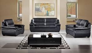 panda top grain leather sofa set