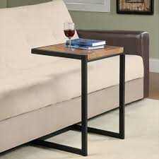 Laptop Side Table Under Sofa Laptop Table Sectional Slide C Shape And Bamboo Side