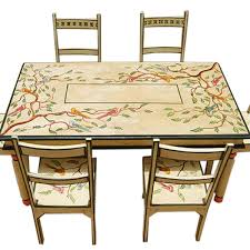Painted Dining Table by Hand Painted Dining Room Tables Painted Dining Room Tables And