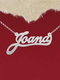custom name jewelry 925 silver name necklace joana custom name by silverbgltd on zibbet