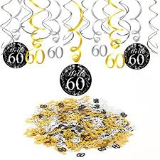 60th birthday decorations konsait 60th birthday decoration 60th birthday hanging swirl 15