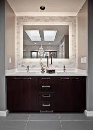 illuminated mirrors for bathrooms large round frameless mirror