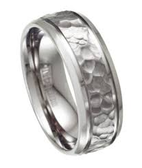 mens titanium wedding rings men s titanium wedding ring with hammered design