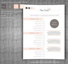 Indesign Price List Template Pricing Sheet Template Photos Graphics Fonts Themes Templates