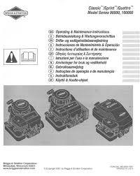 briggs u0026 stratton engine classic sprint quattro 90000 u0026 100000