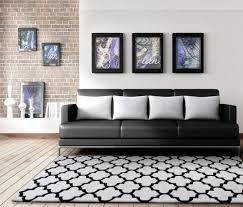 gem lattice round rug off white and black beyond bright