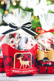 christmas food gift baskets oreo peppermint bark food gift wrapping ideas a pumpkin and a