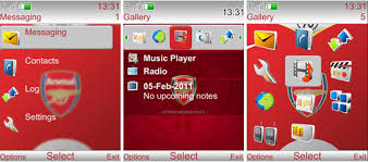 udjo42 themes for nokia c3 udjo42 high quality nokia themes arsenal theme for nokia 6300 240x320