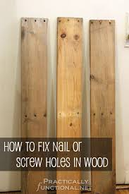 how to fix nail or holes in reclaimed wood
