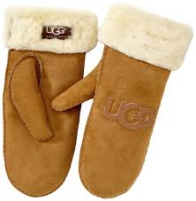 ugg mittens sale ugg s logo mittens brown s amazon co uk clothing