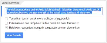 langkah membuat google form cara membuat formulir pendaftaran online via google form