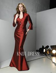 wedding dress maroon mermaid maroon satin v neck pleated waist with